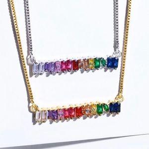 Beautiful multicolored stone necklace